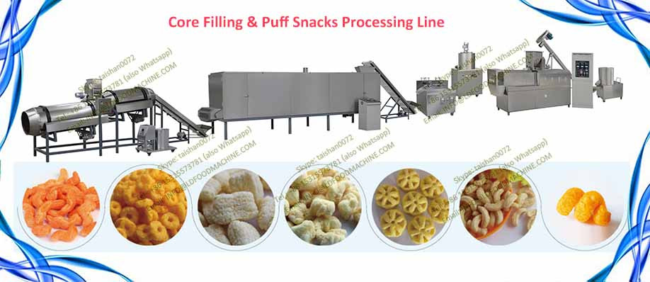 Automatic crisp Extruded Puff Corn Snack Manufacturing machinery