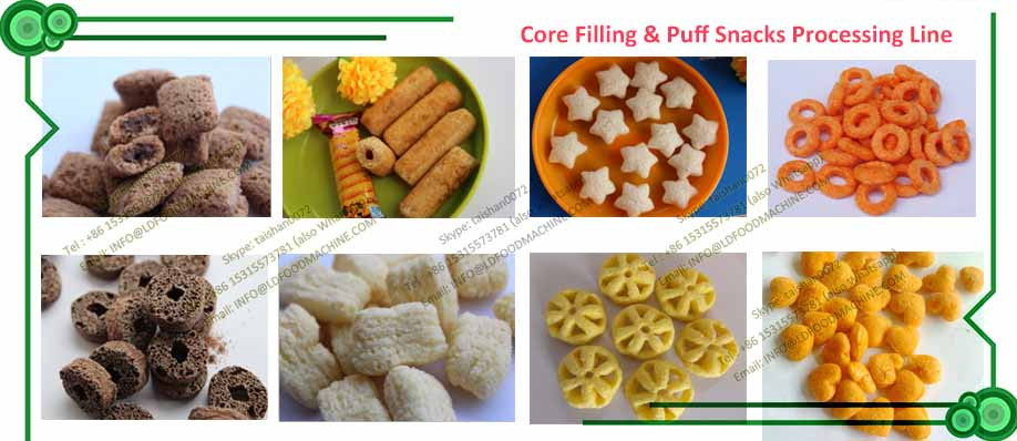 Hot Sale New Arrival Automatic Roasted Extruded Puffy Corn Snacks machinery Line