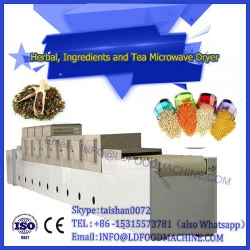 Low temperature and low moisture microwave dryer for tea