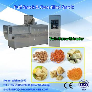 Puffed food core filled snacks make