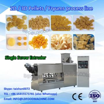 2D Wheel Shaped Fryums 3D Pellet Food Snack Extruder machinery