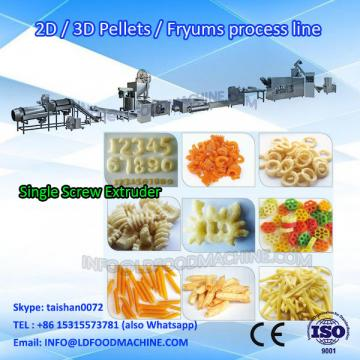 Fried Chips Pellets Food machinery/New Model Low Cost 2D Pellet Puffed Snacks make Line