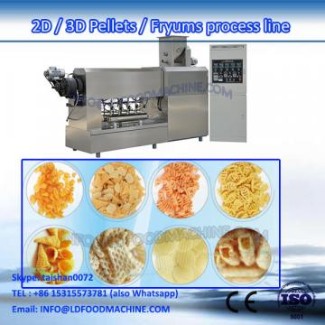 LD High Capacity full automatic fried pellet chips processing line frying pellet food machinery