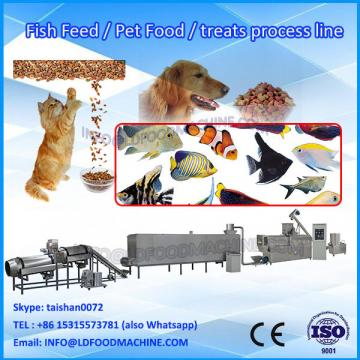China stainless steel extruding animal feed producing line /pet food processing machine/cat food machine