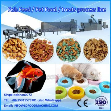 Extruding floating fish feed pellet machine