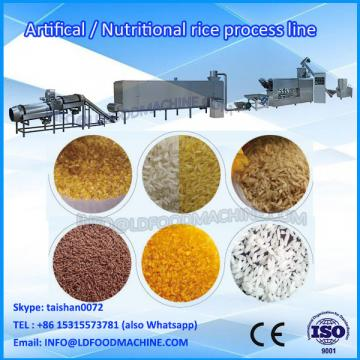 Extruded LDstituted artificial rice processing line