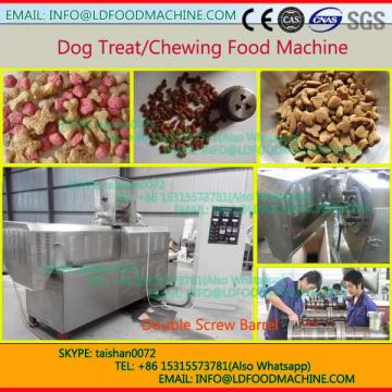floating fish feed pellet twin screw extruder LLDe make machinery