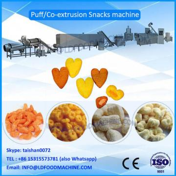 hot sale small Capacity 100-150kg/h cprn puffs, puffed snacks make machinery, production line