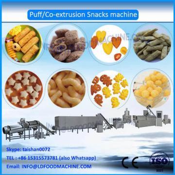 Hot Sale twin Screw 100-150kg/h corn puffed snacks make machinery, puffs snacks processing line in Jinan