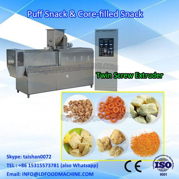 Automatic CE certification center-filled corn puff snack make machinery #1 image
