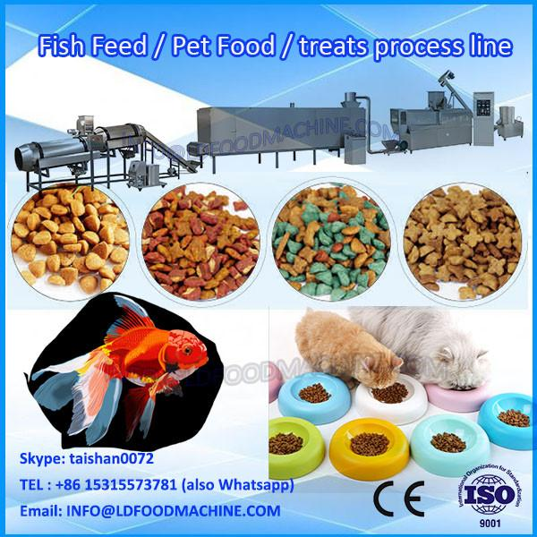 China stainless steel extrusion poultry feed producing plant /pet food processing machine/cat food machine #1 image
