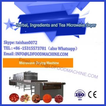 4100kg/h tunnel microwave dryer for flower tea line
