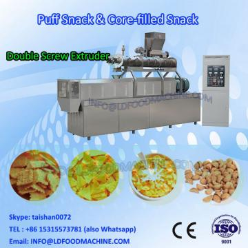 Double screw extruded corn snack puff food make machinery