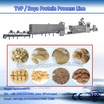 Extruded soybean protein production