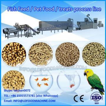 Twin screw extruder pet food processing line