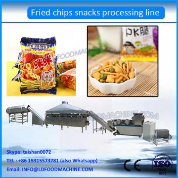 Fried flour snack food process line / wheat flour chips making machine / fried chips equipment