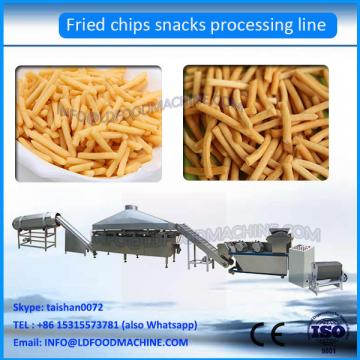 Low cost fried snacks production line/wheat flour snack chips machine