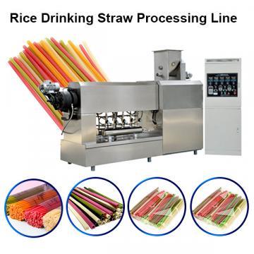 Biodegradable Drinking Straw Making Machine Sugarcane Fiber PLA Raw Material
