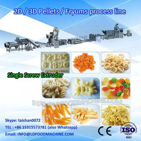 Hot Airbake 2D Snacks Pellet Food machinery/New Stainless Steel 2D Puffed  machinery #1 image
