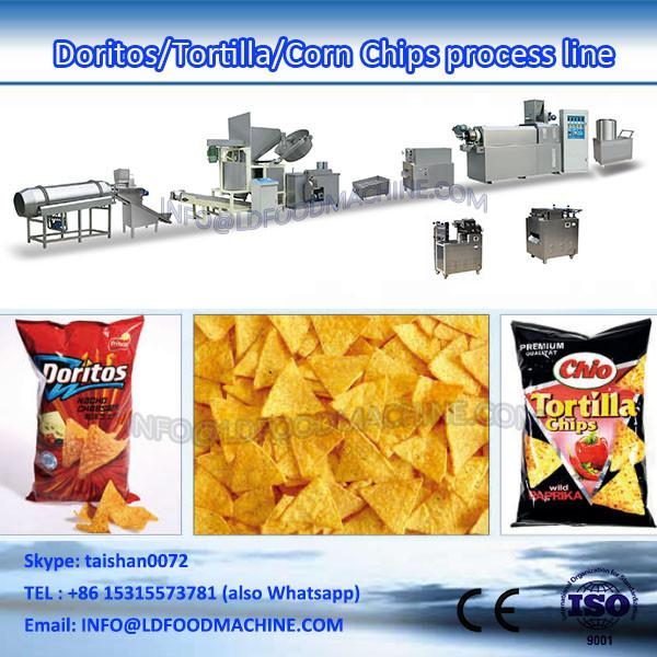 Fried wheat flour snacks machinery fried chips production line #1 image