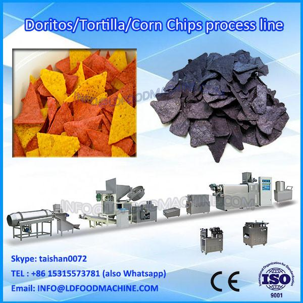 100kg/h twin screw extruded wheat flour fried snack machinery price #1 image