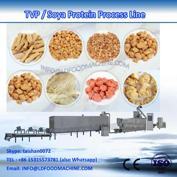Automatic Textured Vegetable Soy Bean Meat Protein Soya Chunk Nugget Extruder machinery #1 image