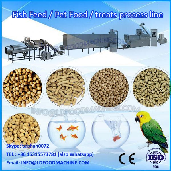 Fully automatic dry pet dog feed pellet extruder machine/plant/production line SS #1 image