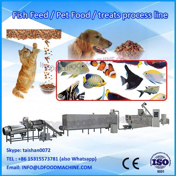 kibble dry fish pet food snack pellet extruding machine #1 image