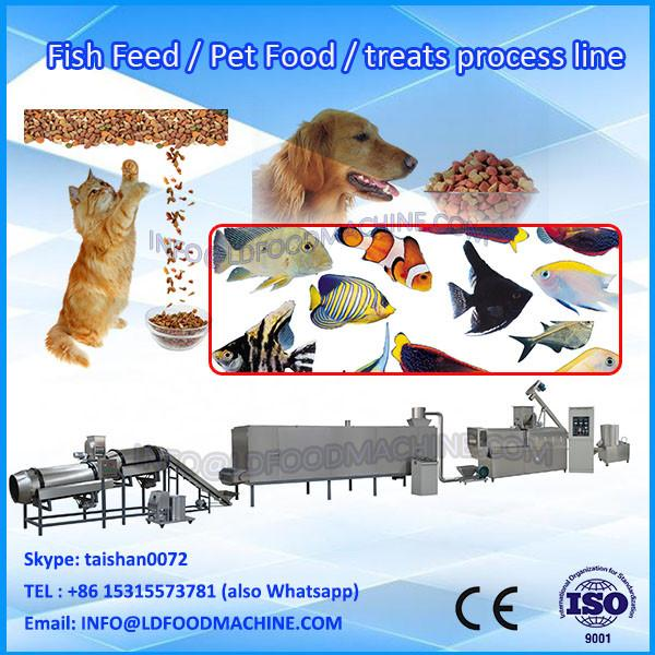 Puffing Big Capacity Fish Feed Processing Line/Automatic Chunk Dog Pet Strip Food Machine #1 image
