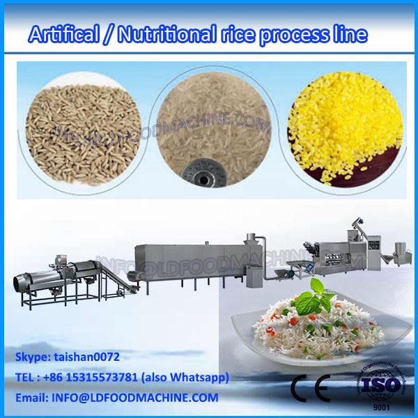 good taste low consumption durable 100-500kg/h extruded artificial rice machinery #1 image