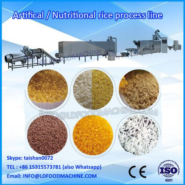 Full automatic instant rice production line,nutrition artificial rice make machinery #1 image