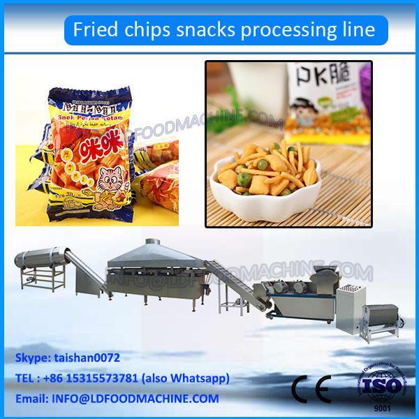 automatic fried wheat flour pillow shape snacks food processing line #1 image