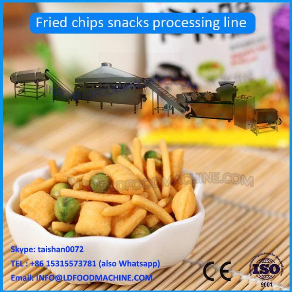 Automatic Extruded Fried Wheat Flour Snacks Crispy Chips Machine #1 image