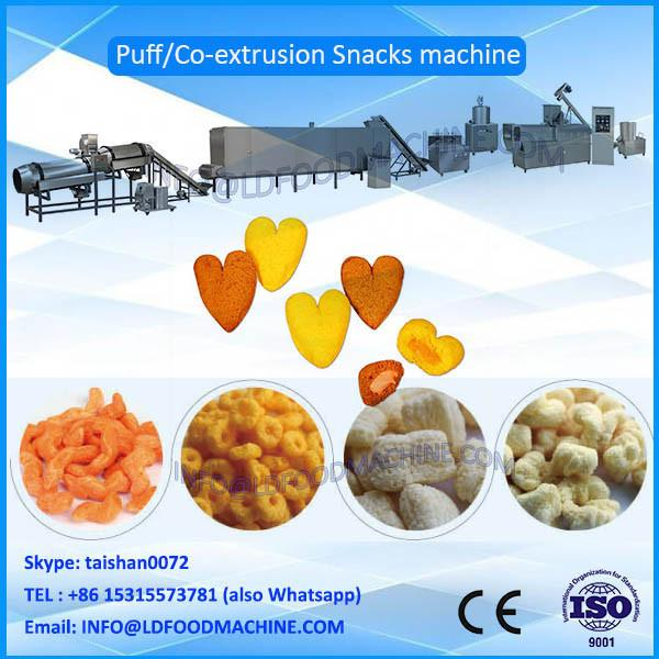 hot sale small Capacity 100-150kg/h cprn puffs, puffed snacks make machinery, production line #1 image