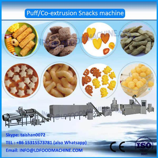 Hot Sale twin Screw 100-150kg/h corn puffed snacks make machinery, puffs snacks processing line in Jinan #1 image