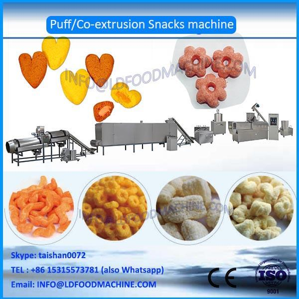 CE China Hot selling chocolate filled core filling puffed  corn chips double-screw extruder machinery #1 image