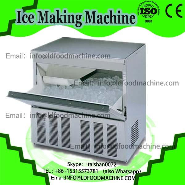 Thailand fry ice cream machinery/double pan fried ice cream machinery/fried ice cream machinery with 10 fruit buckets #1 image