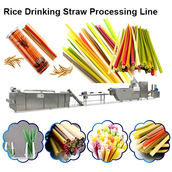 Eco Friendly Drinking Straws Biodegradable / Rice Straw Making Machine Drinking #1 image