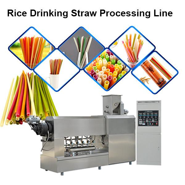 Automatic biodegradable plastic drinking straw extruder for PLA drinking straw #2 image